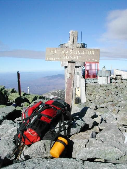 My gear sits on top of Mt....
