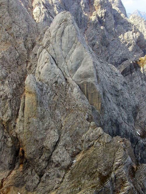 Oltarcek seen from the summit of Dovski Kriz, 2542m.