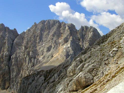 Veliki Oltar, 2621m from the slopes of Dovski Kriz, 2542m.