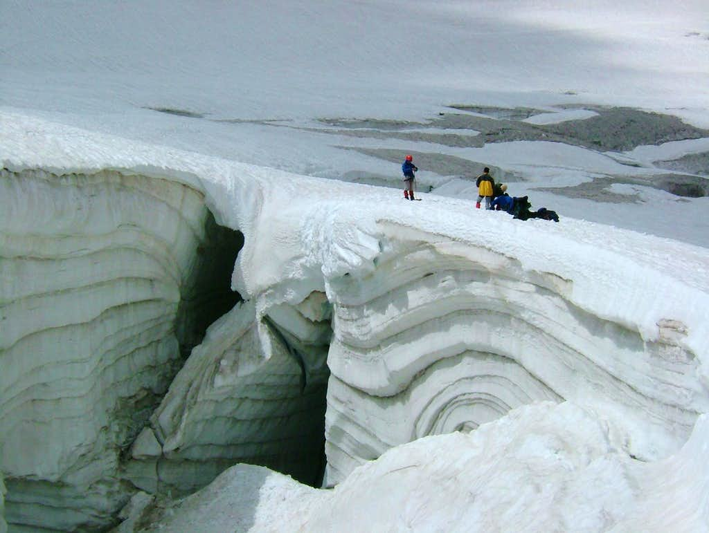 Nice crevasse for a rescue exercise