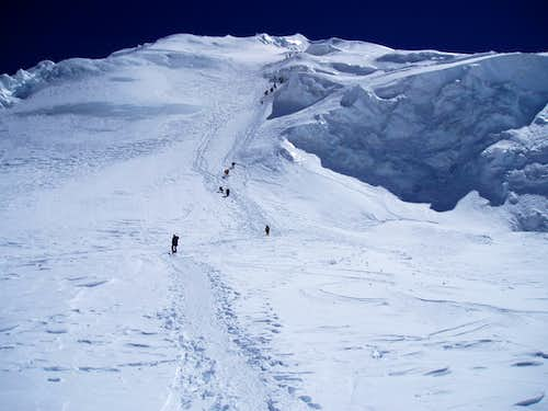 Heading up from Camp 1 on Cho Oyu