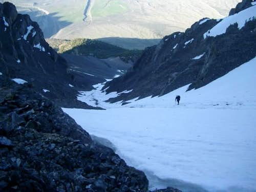 Looking down the super gully...