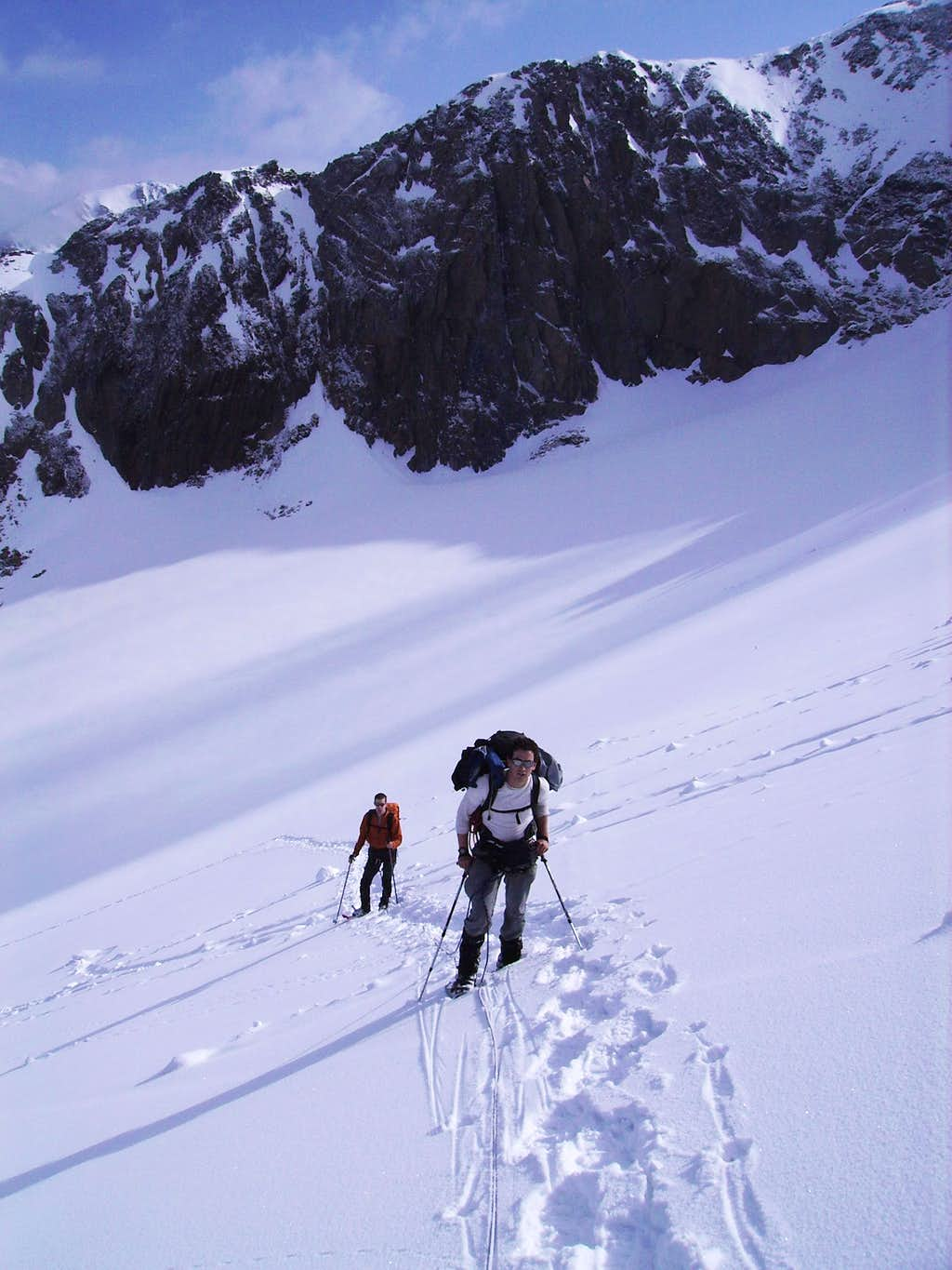 The ascent to the North Face