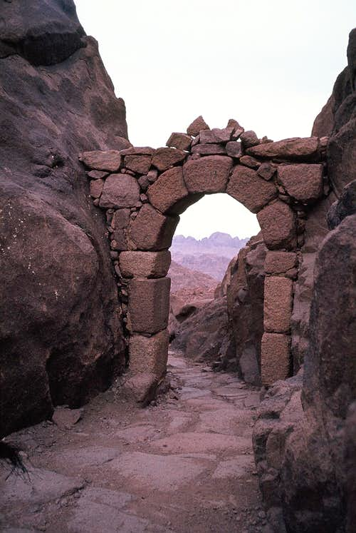 Door to Holy Top (Ğebel Mūsā) - quiet place for inner contemplation