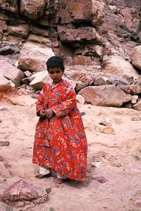 Bedouin child in the Sinai Desert