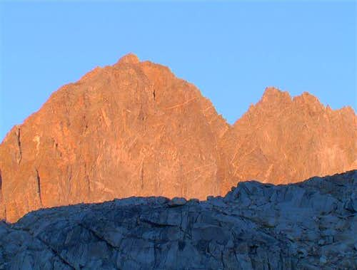 Thunderbolt Peak ( left ) and...