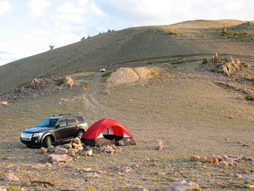 Camping on the Saddle