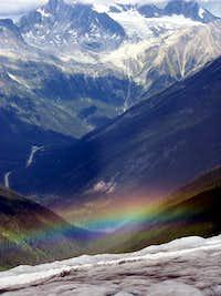 Rainbow below the Asulkan glacier