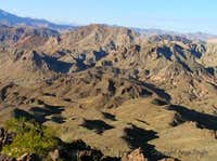 Peaks around Lake Mead and Lake Mohave