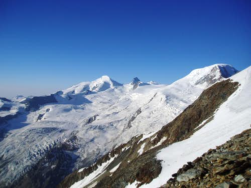 Allalinhorn, Rimpfischhorn and Alphubel