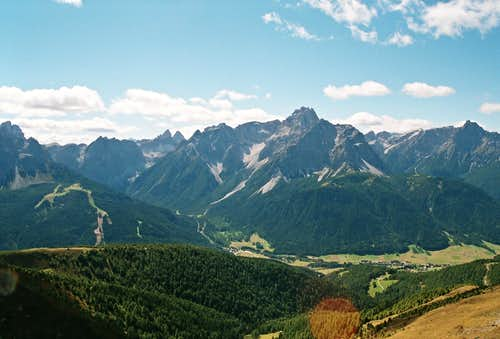 Sesto Dolomites Seen from the Carnic Alps Main Ridge