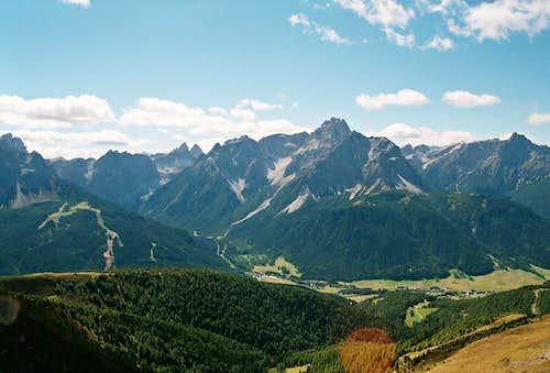 Sesto Dolomites Seen from the Carnic Alps Main Ridge