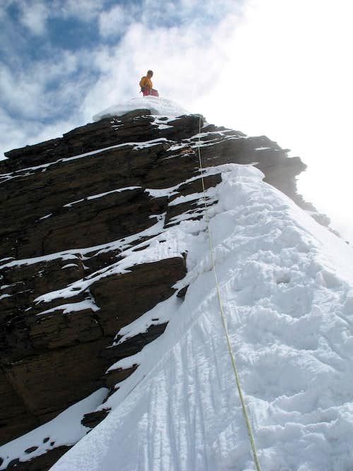 Condoriri, 09/06/2007, summit ridge