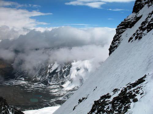 Condoriri, 09/06/2007, summit ridge at 5500 m