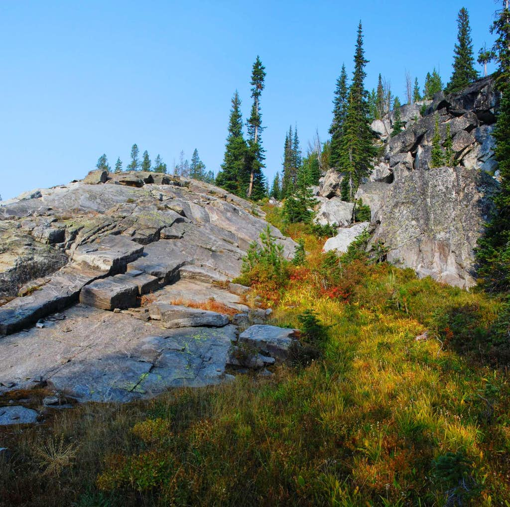 Ridge of Slab Granite
