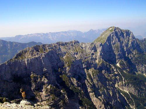 The ridge from Monte Zabus to Monte Cimone.