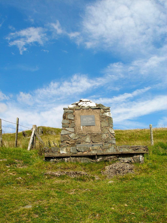 The monument commemorating the Battle of Mynydd Hyddgen