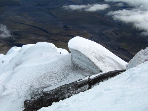 Hiking down Cotopaxi