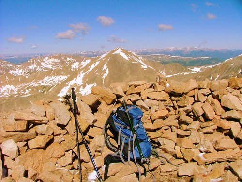 Mount Bross summit, Colorado.