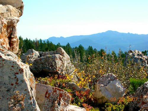 Black Elk Peak view from Bear Mountain