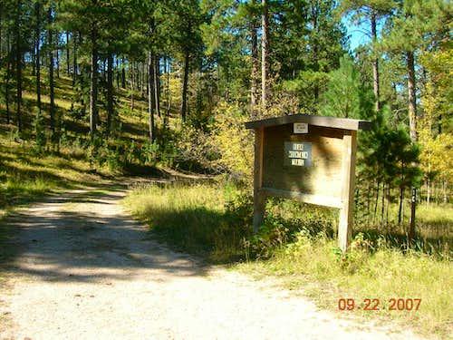 Former Trailhead Sign at Bear Mountain