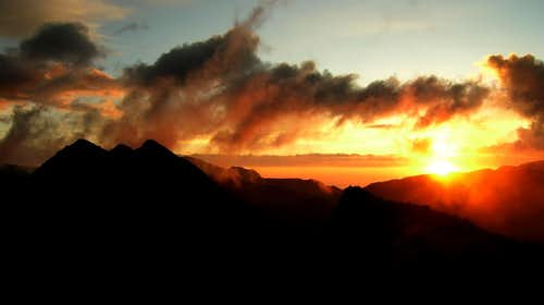 Sunset  over Quilotoa