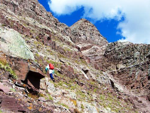 Gary climbing toward Thunder
