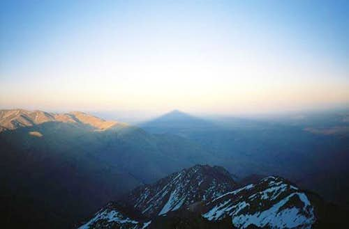 View from the summit of Jebel...