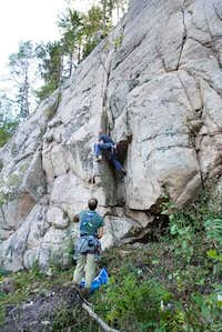 Climbing in Ystehede