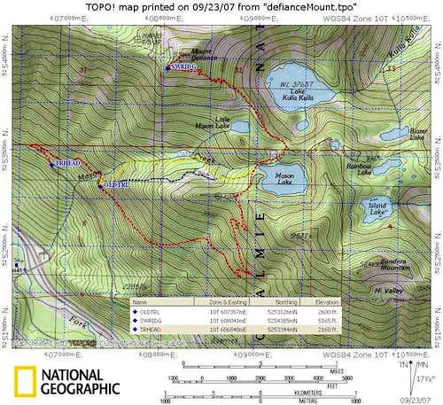 Mount Defiance trails