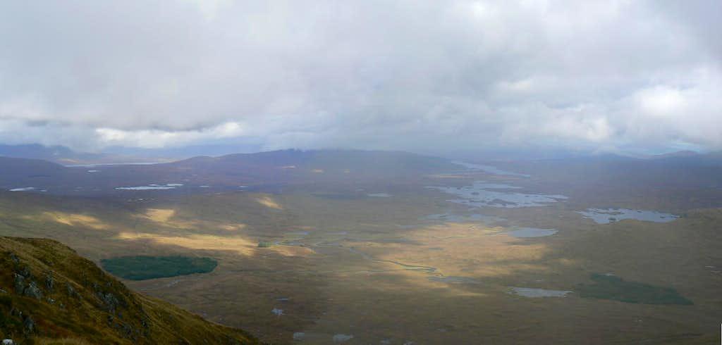 The vast desolate expanse of Rannach Moor