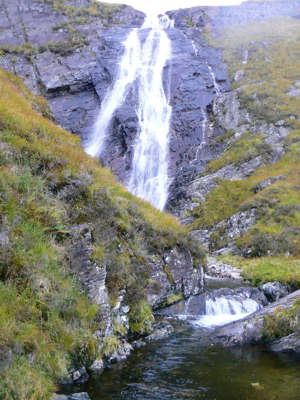 One section of Stob Ghabhar's waterfall