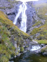 One section of Stob Ghabhar s waterfall