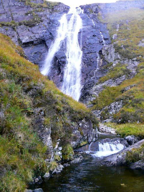 One section of Stob Ghabhar's waterfall
