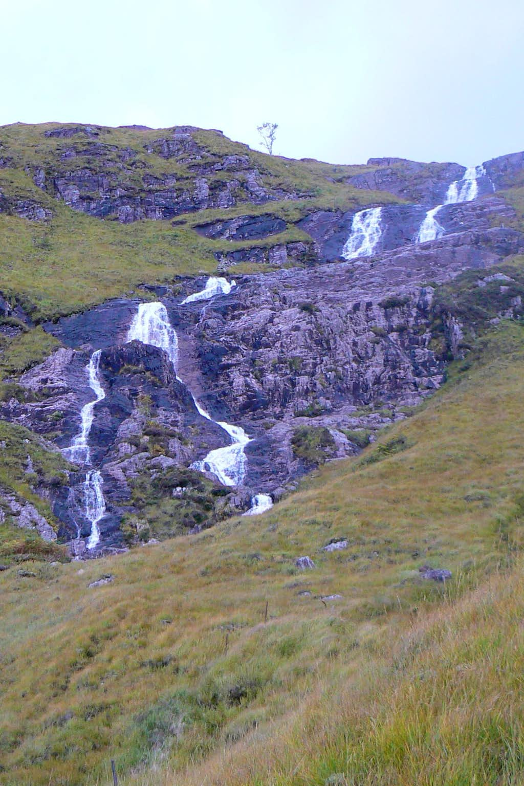 Stob Ghabhar's triple sectioned waterfall