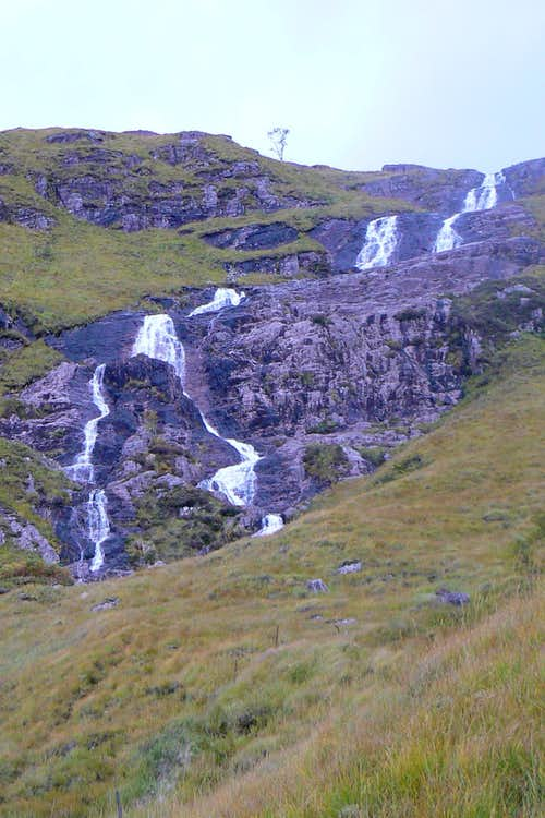 Stob Ghabhar's triple sectioned waterfall
