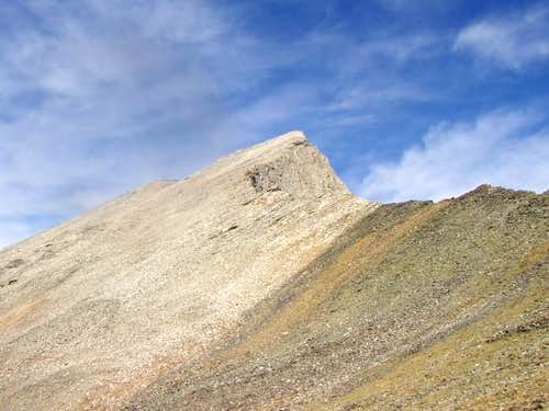 View of the summit and the...