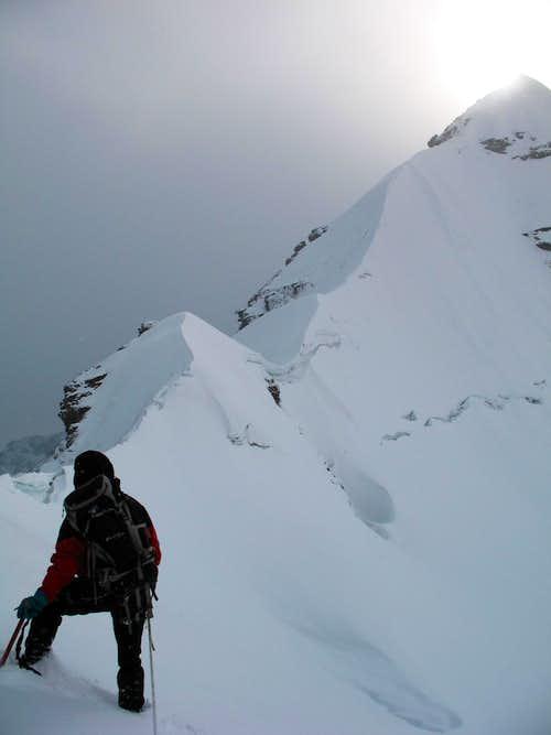 Pequeno Allpamayo ridge at 5300 m, 09/08/2007