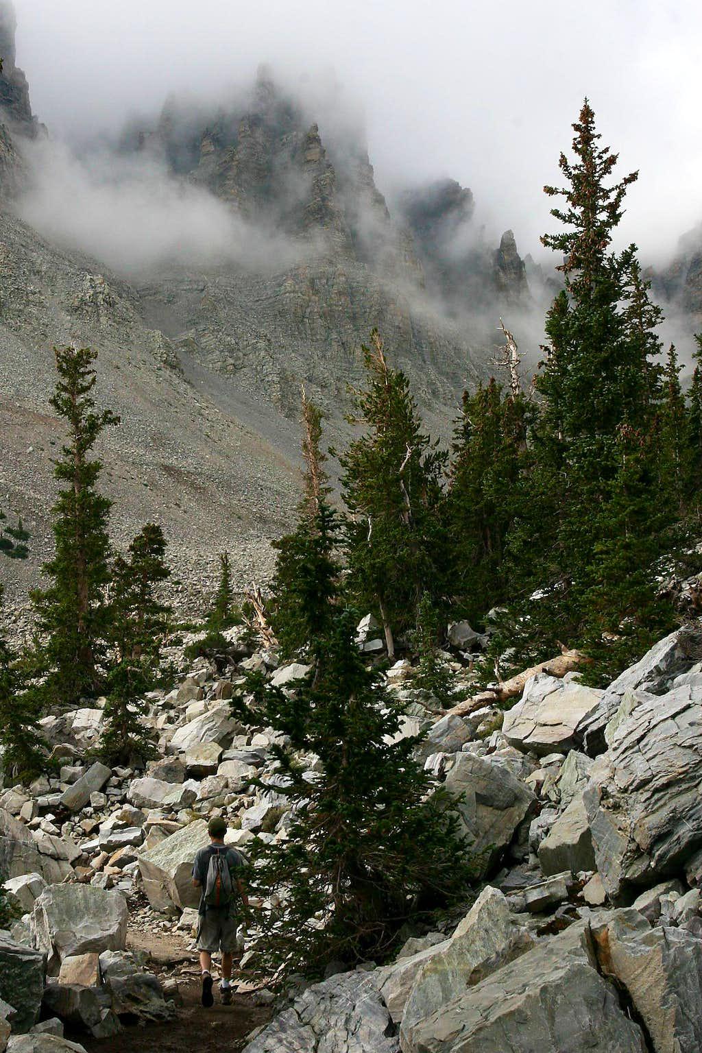 Hiking to the Glacier on Wheeler Peak, NV