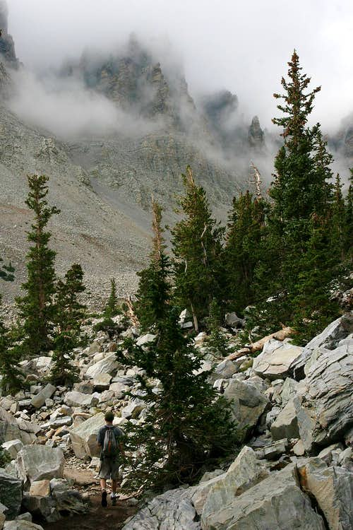 Hiking to the Glacier on Wheeler Peak, NV