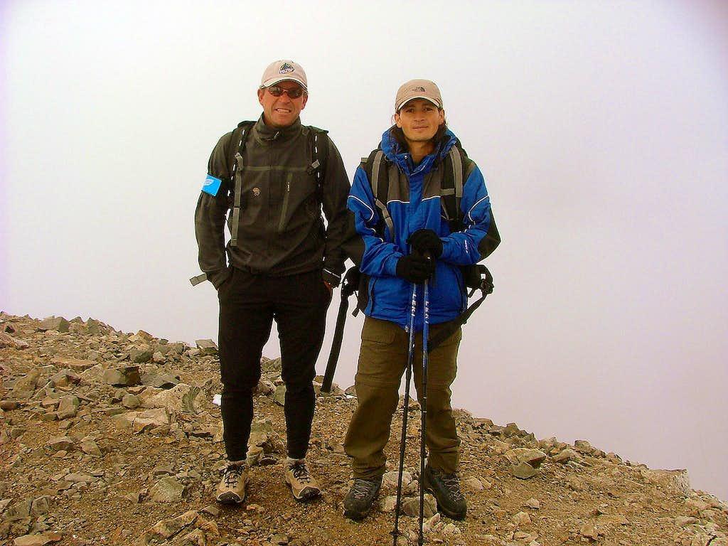 Grays Peak with Ed Viesturs, Colorado.