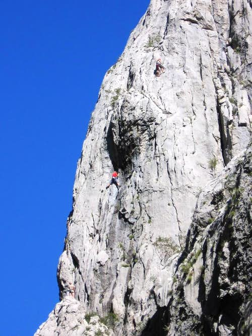 Climbers on the big wall