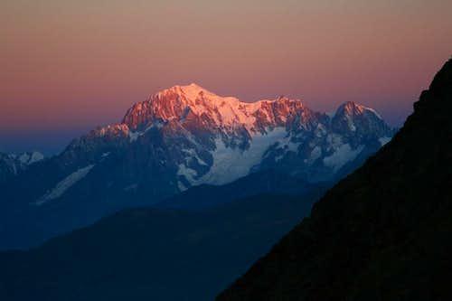 Dawn on Mont Blanc