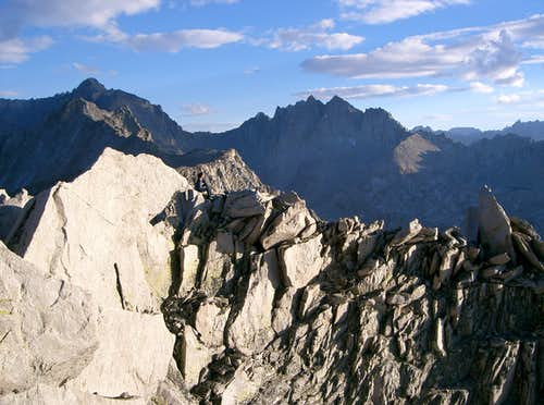 Mount Stanford and Deerhorn Mountain from the Summit of East Vidette