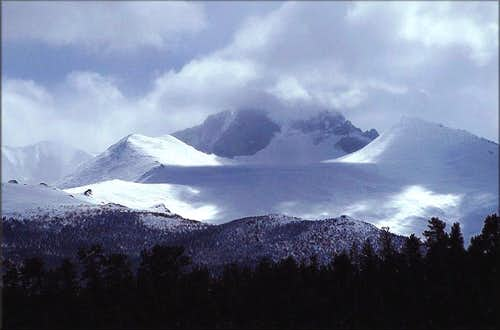 Longs Peak after the St. Patricks Day Blizzard 2003