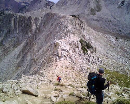 Descending Pfeifferhorn