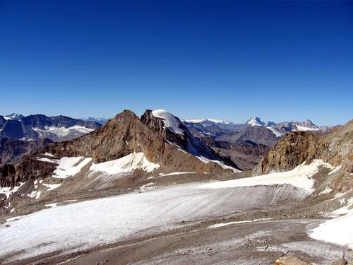 Tresenta and Ciarforon seen from Punta di Ceresole.Above valle dell\'Orco.