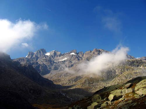 The south side of Gran Paradiso massif.