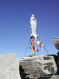 The Madonna at the summit of...