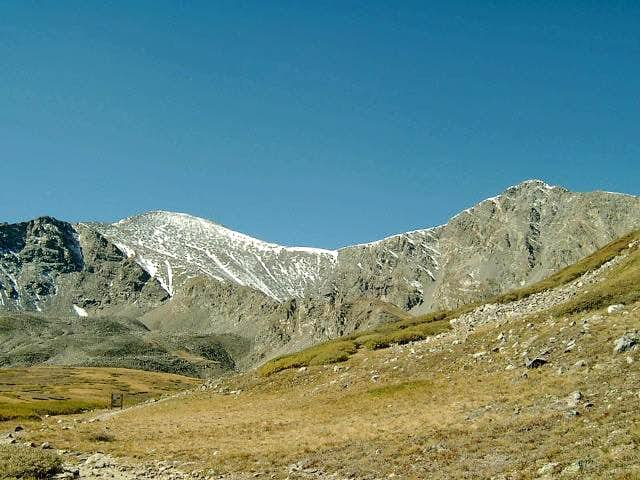 Grays Peak and Torreys Peak in Fall